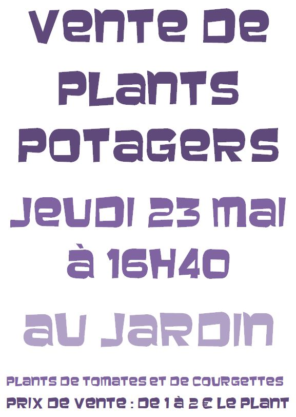 Vente de plants potagers